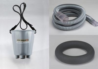 Atemmaske komplett für Kompressor mit 1,30m Atemschlauch ohne Frischluftstutzen